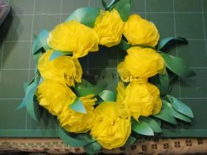 こちらは黄色のお花紙で作ってみました♪