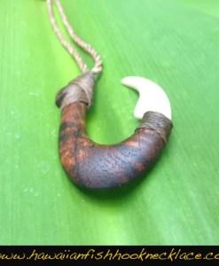 fish hook necklace mammoth ivory makau