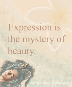 expression is the mystery of beauty