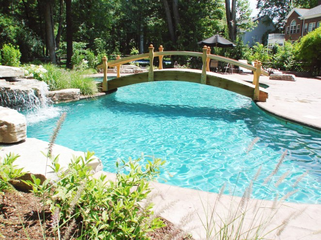 Residential - Pool with Bridge