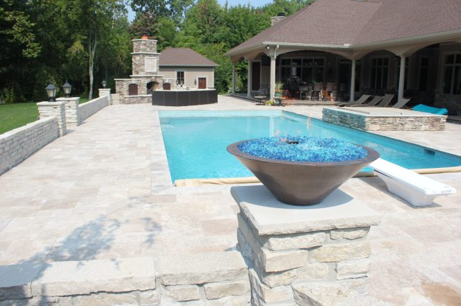 Maumee with Glass Firebowl