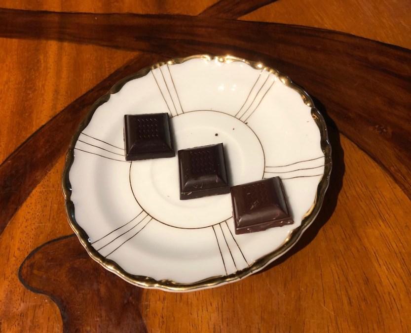 Honokaʻa Chocolate Co., 85% chocolate, 70% chocolate, goat milk chocolate