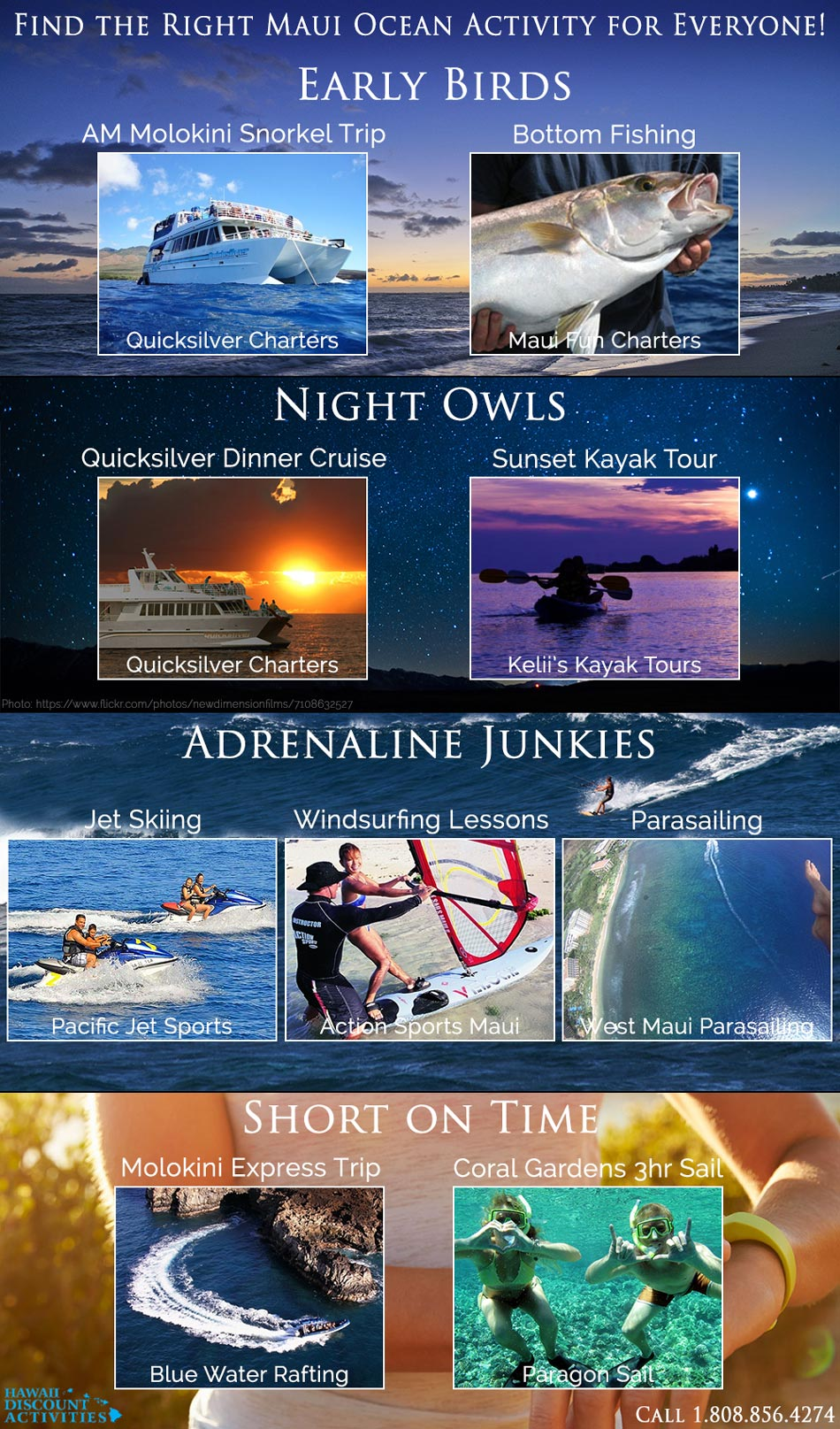 find the right ocean activity infographic