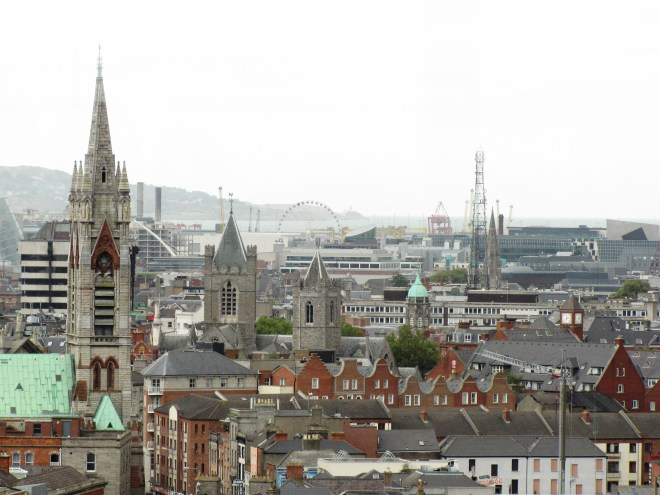 View of Dublin from the top of the Guinness Brewery