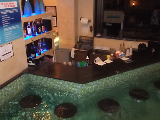 Swim up bar in Spa Castle Pool