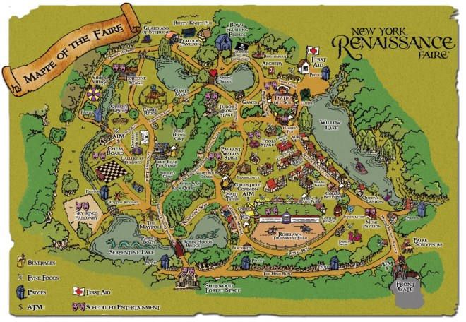 2019 NY Renaissance Faire Map