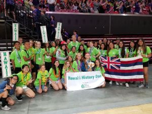 Group of kids from Hawaii History Day Hawaii Delegation National History Day 2018