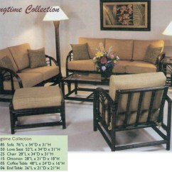 Wicker Living Room Sets English Furniture Island Collections Kauai Rattan