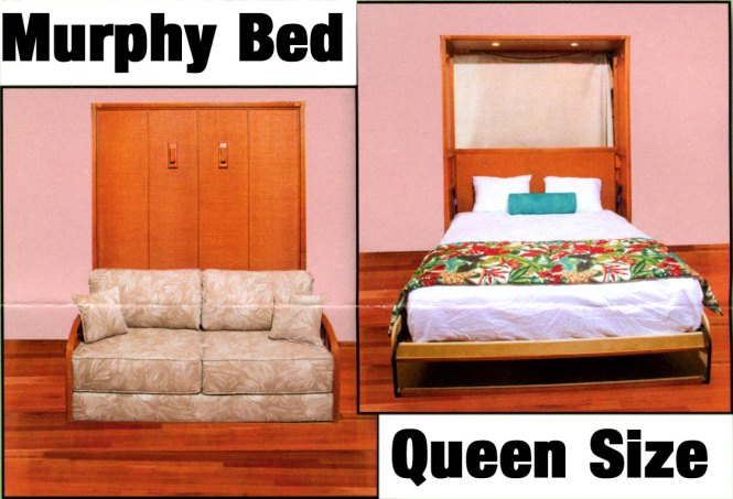 1919 Queen Size Murphy Bed With Lights 69 W X 84 H Mattress Included 2 995 00