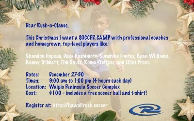 Sign up now for the Rush Christmas Camp!