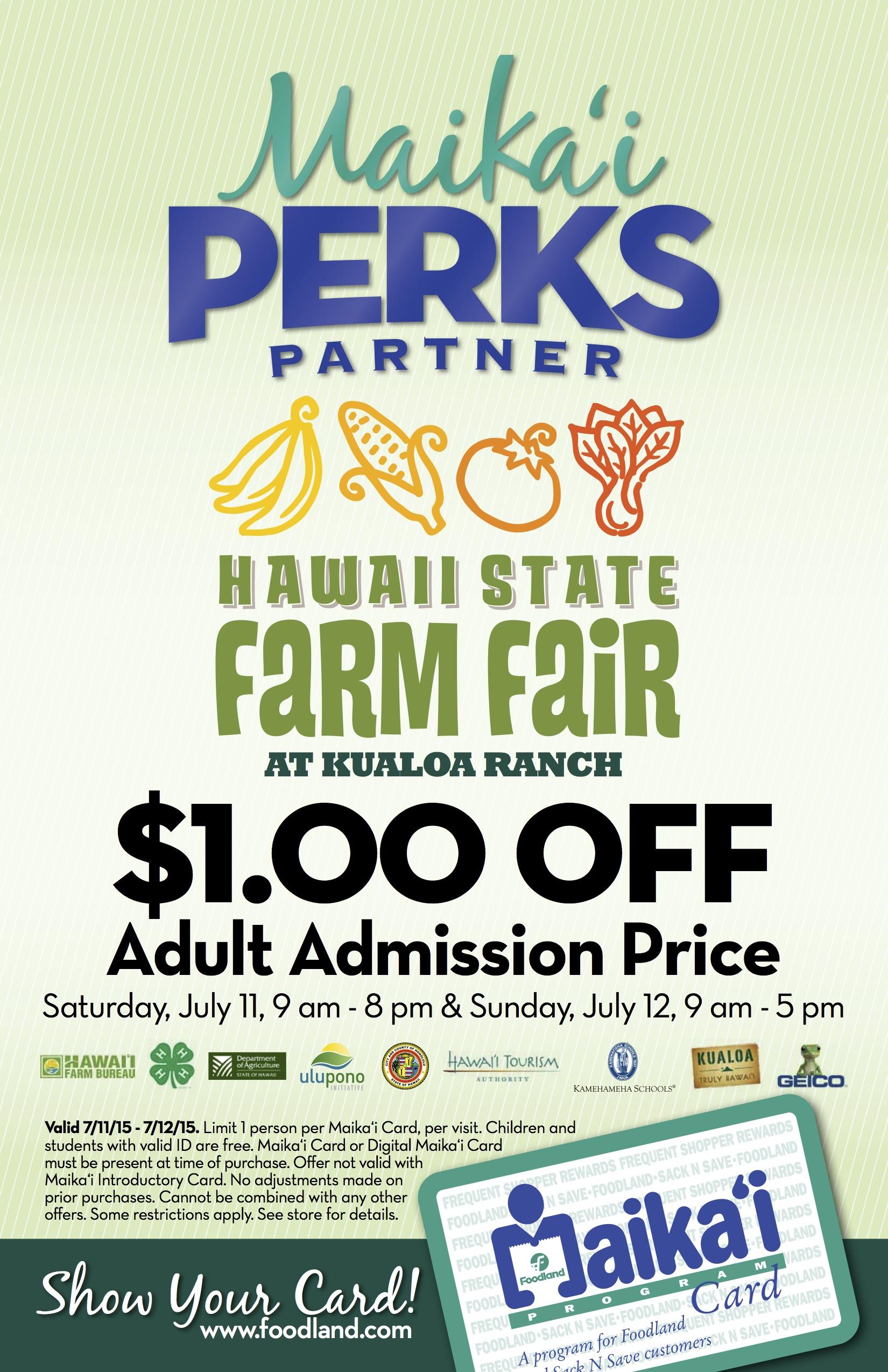 State Farm Perks >> We Are Maika I Card Partners Again Mahalo Foodland