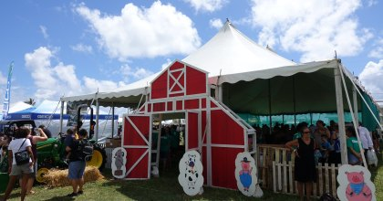 "THE HAWAII FARM BUREAU PRESENTS ""WHAT'S GROWIN' ON"" THE 56th ANNUAL HAWAII STATE FARM FAIR AT KUALOA RANCH ON JULY 14 AND 15"