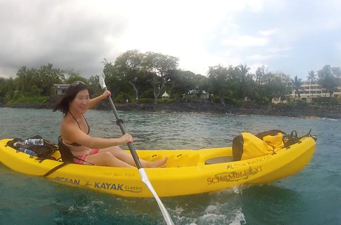 Big Island Keauhou Bay Kayaking and Optional Snorkeling Cave Tour on Hawaii