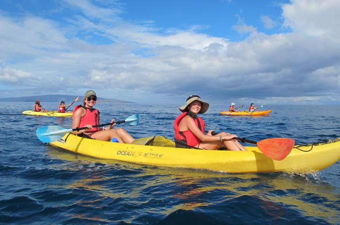 Deluxe Makena Kayak Turtle Snorkel Tour on Maui