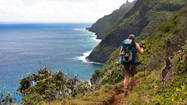 Enjoy beautiful views while hiking in Hawaii State Parks