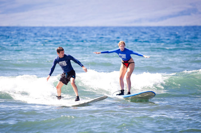 Private Surf Lesson for Two near Lahaina on Maui