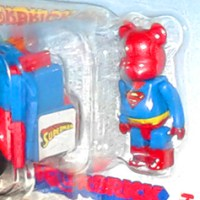 Takara Tomy Superman BE@RBRICK ChoroQ figure and vehicle (2007)