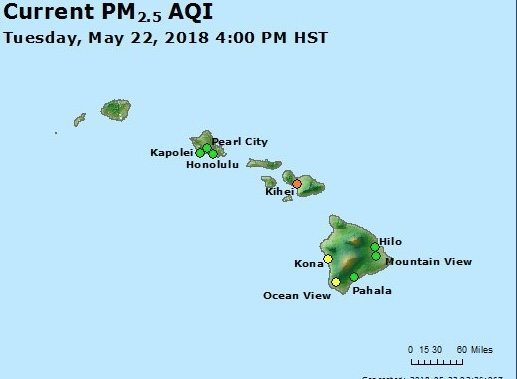 Air Quality Hawaii YELLOW: Moderated Brown: Unhealthy for some