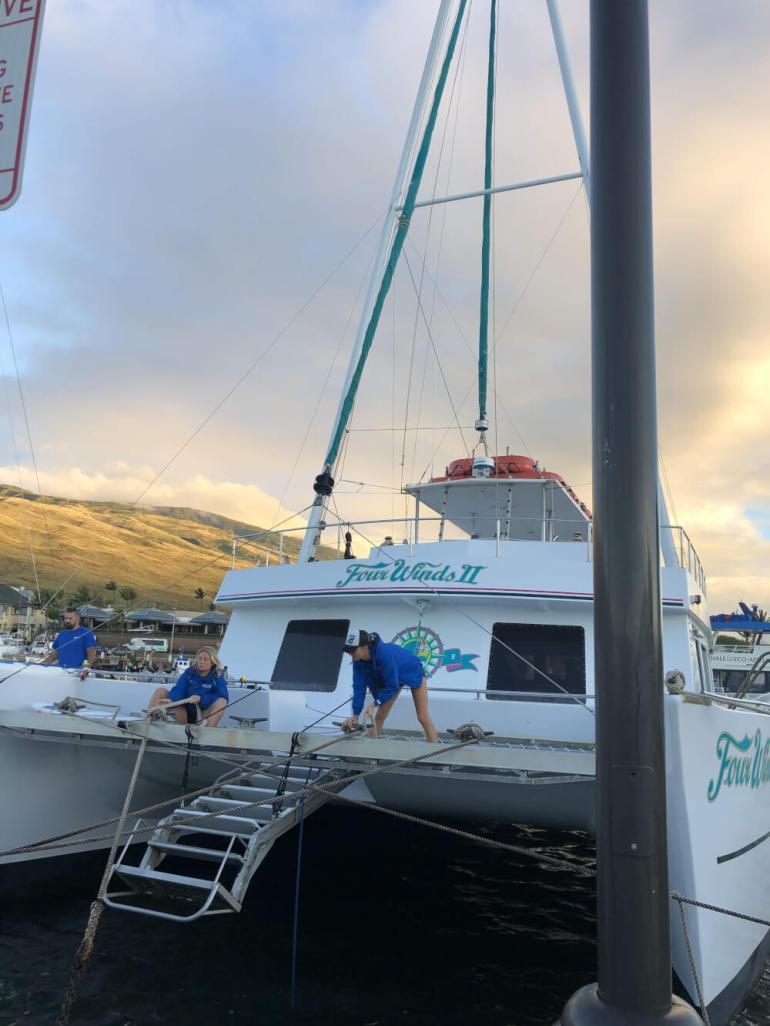 3 Day Maui Itinerary with Kids featured by top Hawaii travel blog, Hawaii Travel with Kids: The Four Winds II Maui Snorkel Tour is a kid-friendly snorkel tour on Maui