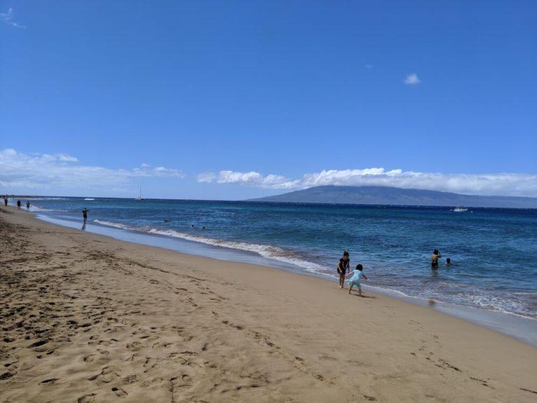 Kaanapali Beach is a kid-friendly beach on Maui