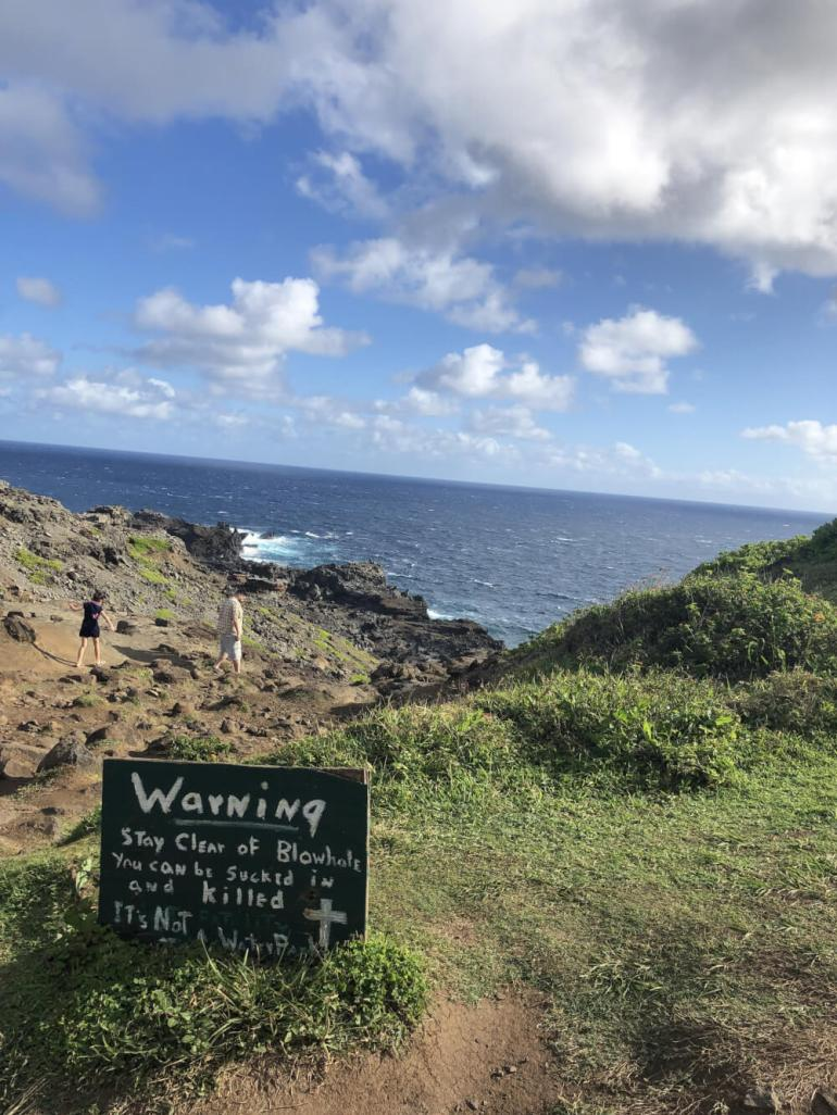 3 Day Maui Itinerary with Kids featured by top Hawaii travel blog, Hawaii Travel with Kids: For a fun Maui attraction for kids, head to Nakalele Blowhole.
