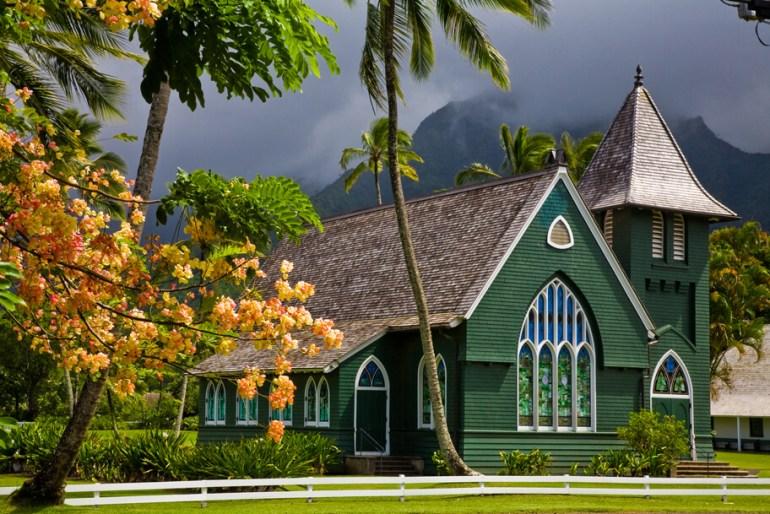 101 Best Things to Do on Kauai with Kids featured by top Hawaii blog, Hawaii Travel with Kids: Waoli Huiia (aka Waioli Mission Church) the oldest church on the island of Kauai