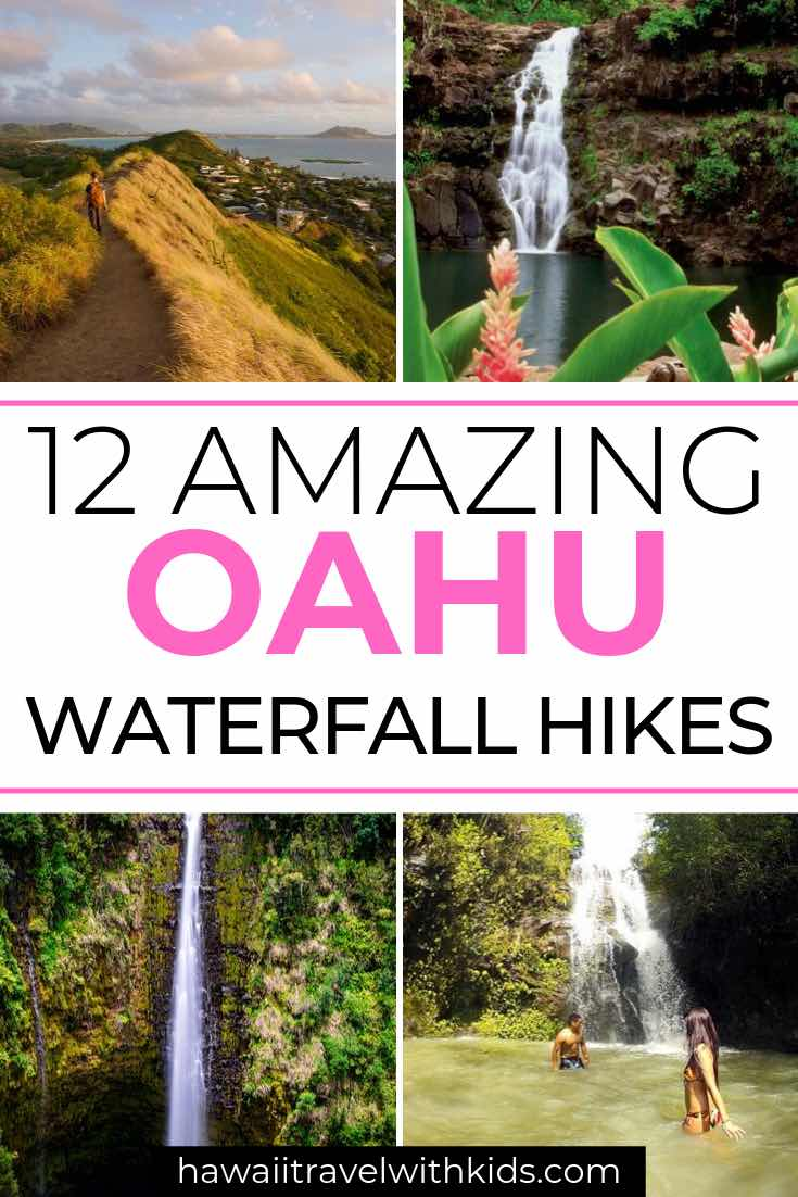 12 Breathtaking Oahu Waterfall Hikes featured by top Hawaii travel blog, Hawaii Travel with Kids | Planning a trip to Oahu? Find out the best Oahu hikes to see waterfalls in this post about the top 12 Oahu waterfall hikes.