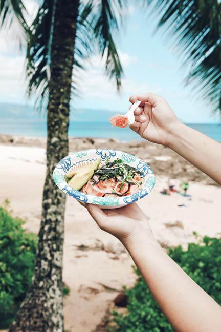 Where to Find the Best Poke in Oahu, places featured by top Hawaii blog, Hawaii Travel with Kids | Make sure to grab lunch at one of the many North Shore food trucks, like this poke place