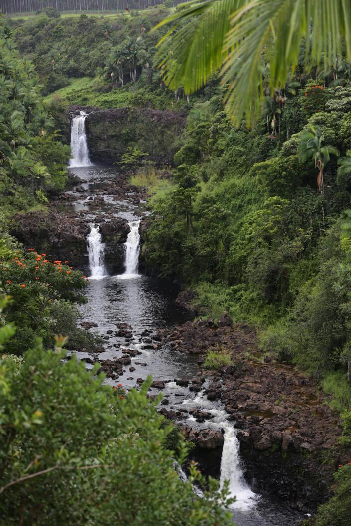 Top 7 Big Island Hawaii Waterfalls you Should Visit featured by top Hawaii blog, Hawaii Travel with Kids: Umauma Falls on the Big Island of Hawaii