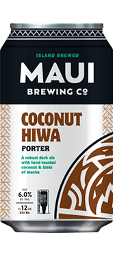 The Best Hawaiian Beer to Enjoy on Maui featured by top Hawaii blog, Hawaii Travel with Kids: Coconut Hiwa Porter beer from Maui Brewing Co.