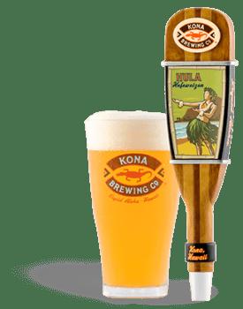 The Best Hawaiian Beer to Enjoy on Maui featured by top Hawaii blog, Hawaii Travel with Kids: Hula Heffeweizen beer from Kona Brewing Co.
