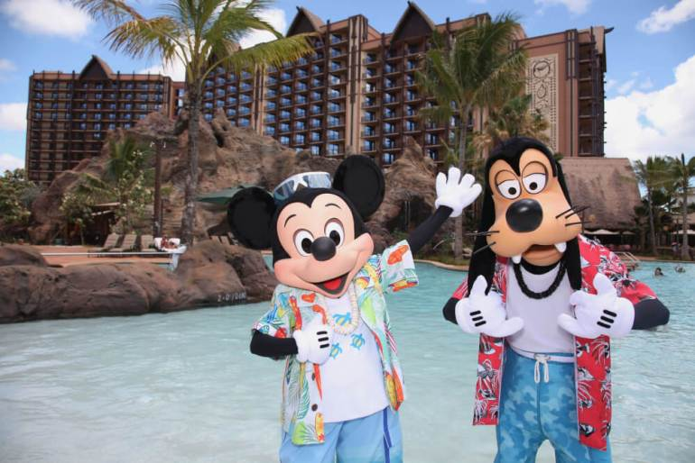 Oahu or Kauai: Which is the Best Hawaiian Island for Kids? Tips featured by top Hawaii travel blog, Hawaii Travel with Kids: MICKEY MOUSE AND GOOFY VACATION AT AULANI -- With its fun recreation features and restaurants, its comfortable rooms, and its combination of Disney magic with Hawaiian beauty, tradition and relaxation, Aulani, a Disney Resort & Spa in HawaiÔi, offers a new way for families to vacation together on the island of OÔahu. (Paul Hiffmeyer/Disney Destinations)