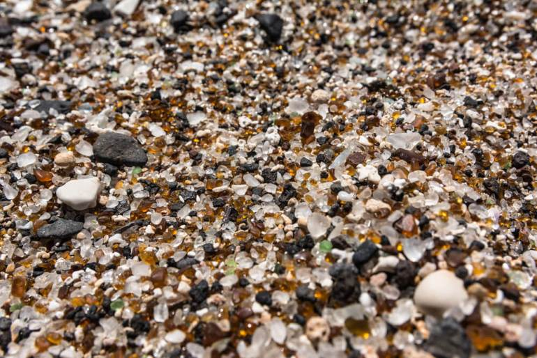 50 Best Places to Visit in Hawaii with your Family featured by top Hawaii blog, Hawaii Travel with Kids: Glass Beach in Eleele, Kauai.