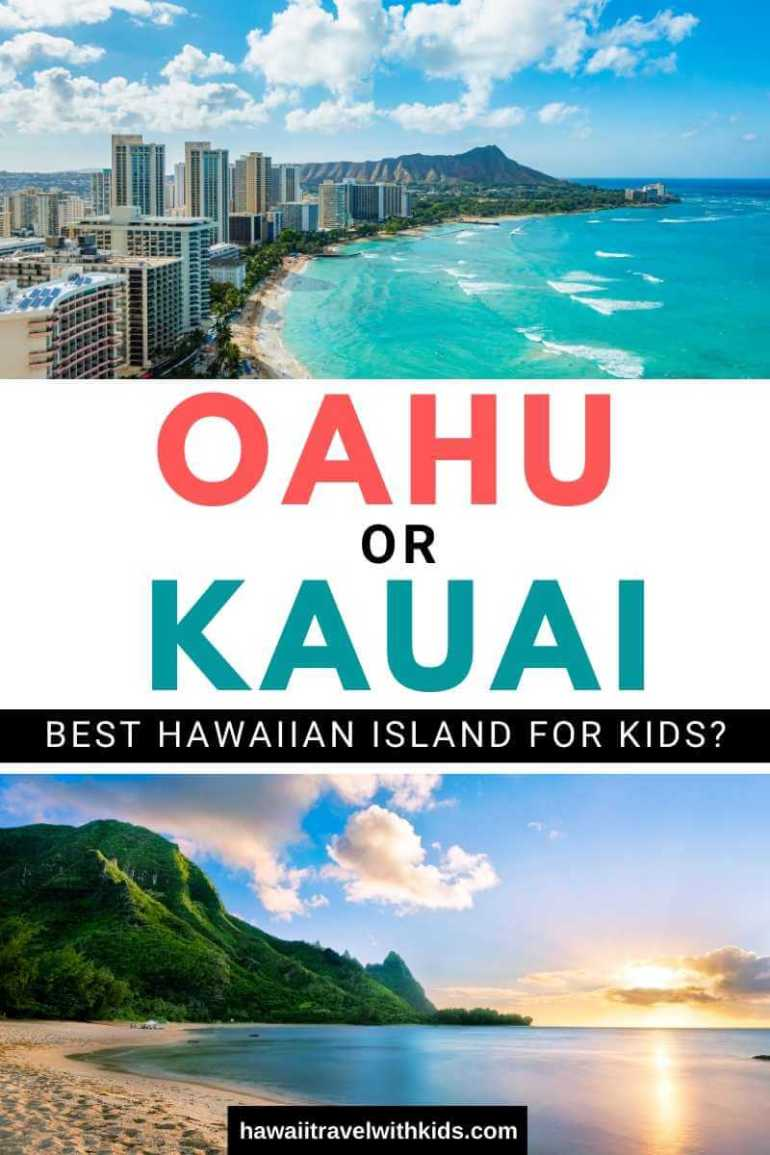 Oahu or Kauai: Which is the Best Hawaiian Island for Kids? Tips featured by top Hawaii travel blog, Hawaii Travel with Kids