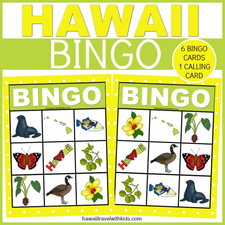 Hawaiian Bingo Game for Kids - FREE Printable featured by top Hawaii blog, Hawaii Travel with Kids.