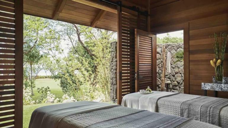 Top 8 Romantic Oahu Honeymoon Resorts featured by top Hawaii blog, Hawaii Travel with Kids: Massage room at Four Seasons Ko Olina
