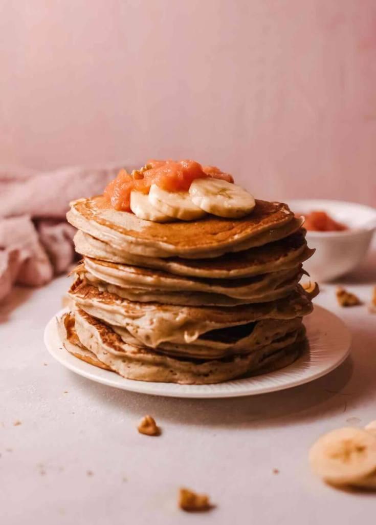 Hawaiian Pancakes with Homemade Guava Jam