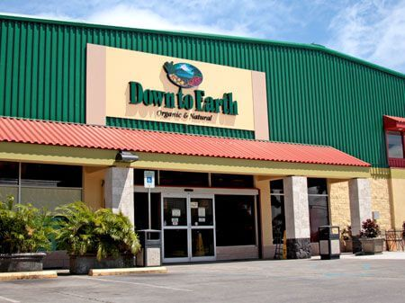 The best Maui grocery stores featured by top Hawaii blog, Hawaii Travel with Kids: Down to Earth Kahului Storefront