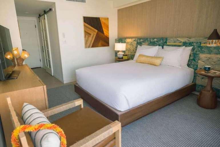 Top 8 Romantic Oahu Honeymoon Resorts featured by top Hawaii blog, Hawaii Travel with Kids: Surfjack Hotel Bungalow