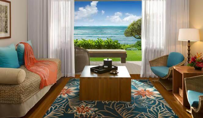 Top 8 Romantic Oahu Honeymoon Resorts featured by top Hawaii blog, Hawaii Travel with Kids: Turtle Bay Resort room
