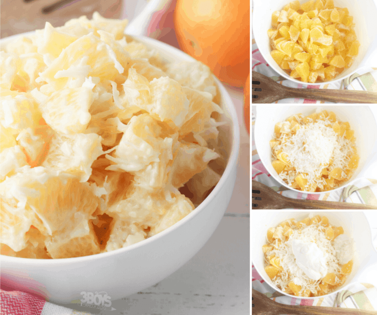 61 Delicious Coconut Dessert Recipes Perfect for Summer featured by top Hawaii blog, Hawaii Travel with Kids: orange and coconut salad