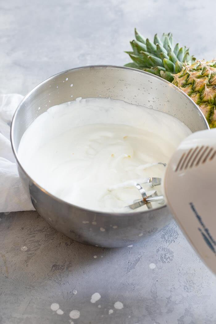 No Churn Homemade Pineapple Ice Cream Recipe by top Hawaii blog Hawaii Travel with Kids