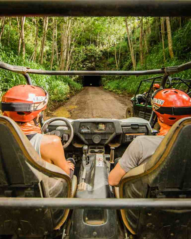 101 Best Things to Do on Kauai with Kids featured by top Hawaii blog, Hawaii Travel with Kids: One of the best things to do on Kauai is a Kauai ATV tour