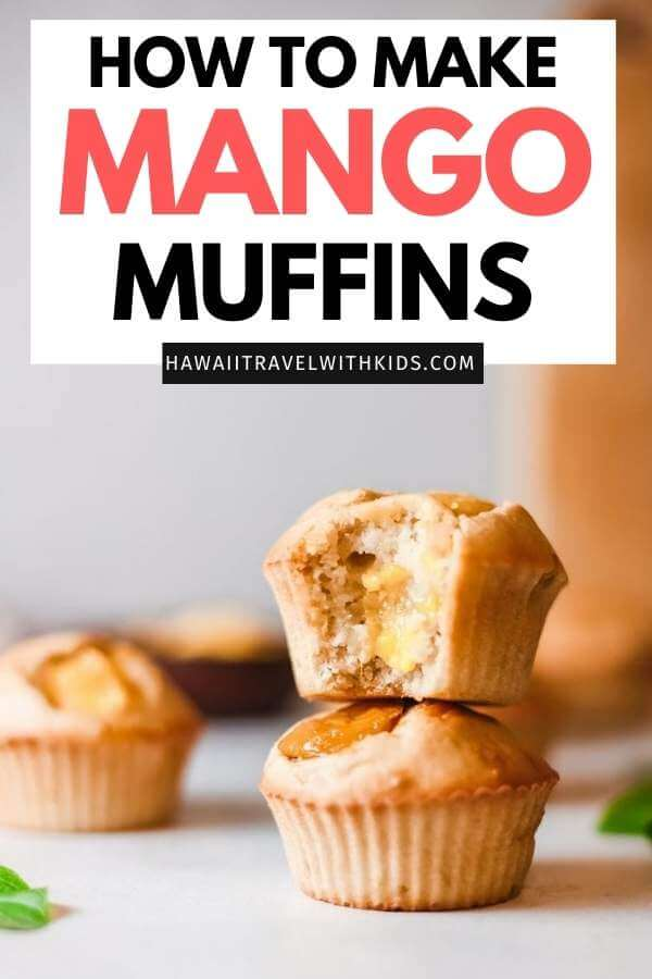 Hawaiian Mango Muffins Recipe featured by top Hawaii blog, Hawaii Travel with Kids