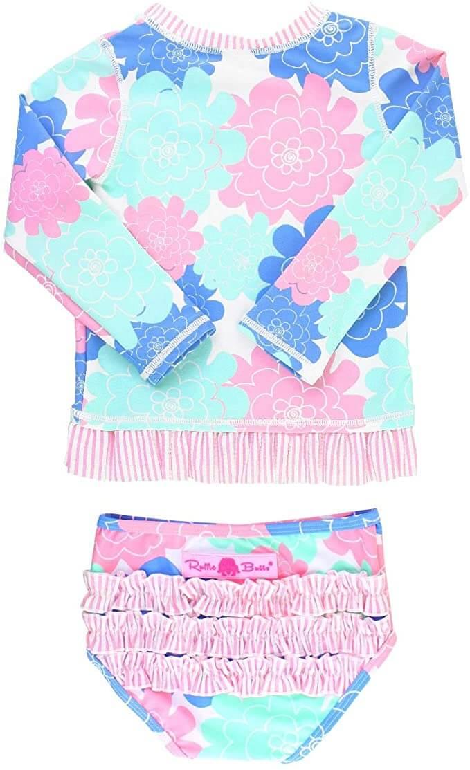 Baby//Toddler//Kid Carters Girls Short Sleeve Rash Guard Swimsuit Set 5T, Pink//Hawaiian