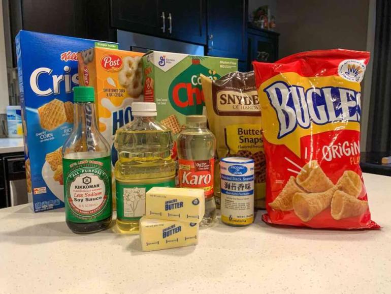 Image of furikake chex mix ingredients