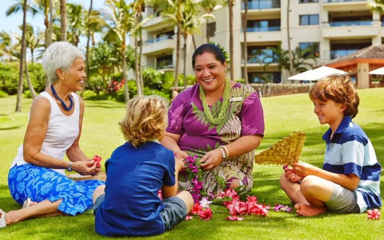 Best Maui Resorts for Families: Where to Stay on Maui with Kids featured by top Hawaii blog, Hawaii Travel with Kids: https://i0.wp.com/hawaiitravelwithkids.com/wp-content/uploads/2020/11/lei-making-hero.jpg?w=770&ssl=1