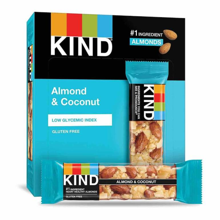 Make sure to add snacks to your Hawaii packing list for the flight to Hawaii. Image of Kind bars.