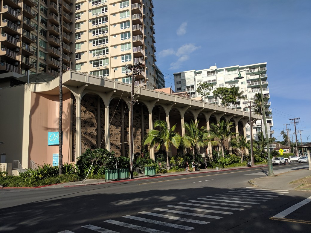 The outside of the Queen Kapiolani Hotel