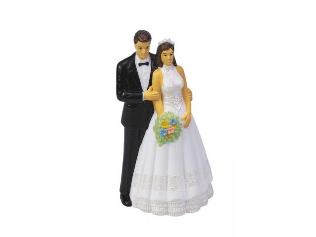 Glckwunschkarte Silberne Hochzeit Brautpaar Bild in